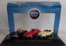 Jaguar E Type Triple Set Coupe FHC Roadster DHC 1/76 Oxford Diecast