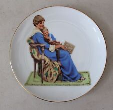 """Bedtime"" by Norman Rockwell Plate Museum Collections 1986 L#905"