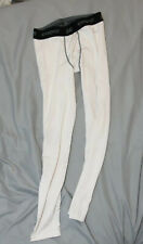 White Tights Size Large Eastbay Grappling Compression Pants MMa Jui Jitsu L