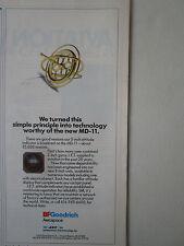 11/1991 PUB BF GOODRICH JET ELECTRONICS ATTITUDE INDICATOR MD-11 ORIGINAL AD