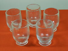 5 HTF PFALTZGRAFF CLEAR RIBBED TUMBLER CASTLE MARK WATER ICE TEA FOOTED GLASS