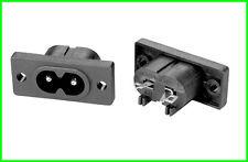 C8 Einbaudose Euro Stecker Dose Einbau IEC 60320-C8 VDE Euro2 Euro8 Acht Buchse
