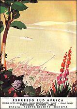 ITALIA FLOTTE RIUNITE GENOVA SUD AFRICA PORTO CAPE TOWN CROCIERA MARE NAVE 1936