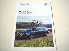 Volkswagen . Golf . My Golf Estate  Accessories . 2012 Sales Brochure