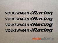 PEGATINA STICKER VINILO COCHE VW Volkswagen Racing llantas motorsport aufkleber