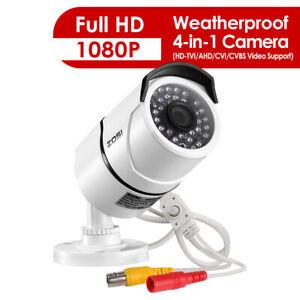 ZOSI Surveillance Camera 1080P 4in1 CCTV Security Camera Outdoor IR Night Vision