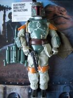 "STAR WARS SUPER RARE LOOSE 12"" K.B TOYS STORE EXCLUSIVE ELECTRONIC BOBA FETT.C10"