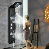 ORB LED Duscharmatur Edelstahl Duschpaneel Regendusche Duschsystem Duschsäule