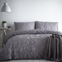 Signature GLACIER Slate Grey 100% Cotton Duvet Cover Set