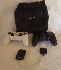 Lot 2 PS3 Nyko Wireless Black & White Controllers Work NEEDS BATTERIES