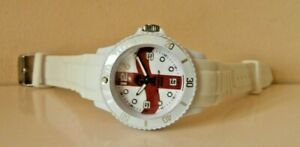 England Watch 2014 Fifa World Cup Brazil White & Red Watch exc cond +new battery