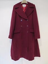 NWT Ladies Jacques Vert Womans Fit & Flare Burgundy Coat, UK10