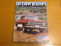 1981 CHEVROLET BLAZER FACTORY COLOR DEALER BROCHURE ORIGINAL FACTORY ISSUE