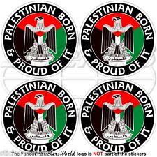 """PALÄSTINA Palästinensischen Geboren & Stolz Vinyl Sticker Aufkleber 50mm (2"""") x4"""