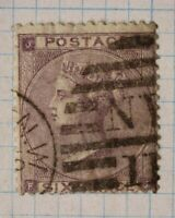 GB sc#39 used stamp QV sg#84 cv$92.50 6 six pence NY 11 SOTN hand cancel