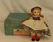 "Madame Alexander Kins TYROLEAN GIRL #798 BENT KNEE 8"" Wendy Doll RARE in BOX"