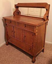 "Antique Oak 22X46X54"" Wood Craftsman Dresser with 3 Drawers & 3 Doors Furniture"