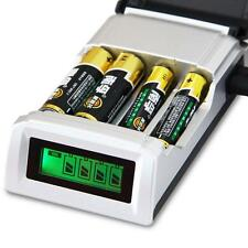 LCD Intelligent Battery Charger For AA / AAA NiCd NiMh Rechargeable Batteries