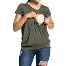 Women Pregnant Nursing Top Maternity Breastfeeding Clothes Casual T-Shirt Blouse
