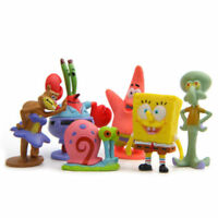6PCS SpongeBob Squarepants Patrick Star Squidward Tentacles Figure Kids Toy Gift