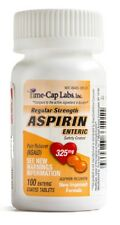 New Sealed Bottles of ENTERIC COATED Aspirin 325mg 100 Tablets COMPARE ECOTRIN