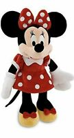 """Disney Store Minnie Mouse Red Polka Dot Plush Toy 13"""" Doll Brand New With Tag"""