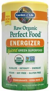Raw Organic Perfect Food Energizer, 30 servings Pomegranate Yerba Mate