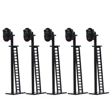 5pcs Model Railway 2-Light Block Signal Green/Red HO Scale 6cm 12V Led JTD03