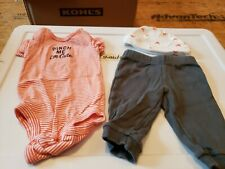 Carter's brand boys size 3 month outfit with hat