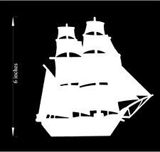 Sailing Ship - Car Decal (Choose any color!) Premium cutout vinyl
