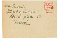 1947? Germany to Rome Displaced Person Camp Mail Cover Lithuanian Stampless