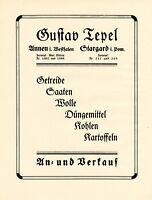 Getreide Tepel Annen & Stargard XL Reklame 1924 Westfalen & Pommern