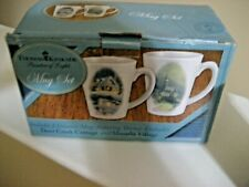 2 Thomas Kinkade Mugs (One Is Deer Creek Cottage And The Other Moonlit Vil