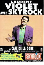 PUBLICITE ADVERTISING 126  1991   radio Skyrock & Laurent Violet café de la gare