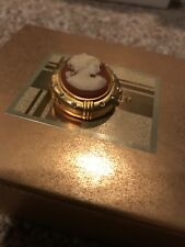 Estee Lauder Youth Dew 2001 Cameo Red & White Perfume Compact New Unused