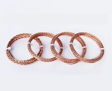 Copper Square Twisted Fancy Wire - Choose Gauge & length   ( See Variations )