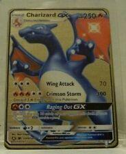 CHARIZARD GX Hidden Fates Shiny - Pokémon ~ Gold Metal Card - custom ccg tcg