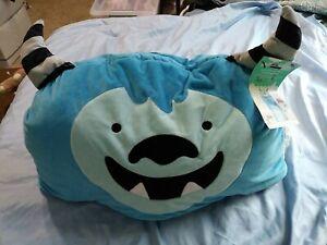 "Kids' Yeti Convertible Character Sleeping Bag Pillow Torquoise Pillowfort 54"""