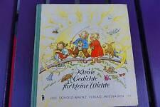 altes Kinderbuch kleine Gedichte für kleine Wichte Jos.Scholz-Mainz Verlag Wiesb