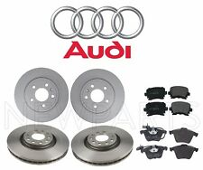 Audi A4 Quattro 2.0L 3.2L Set of Front and Rear Brake Disc Rotors with Pads OES