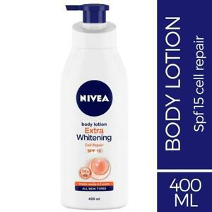 Nivea Extra Whitening Cell Repair SPF 15 Body Lotion, 400ml Free Shipping