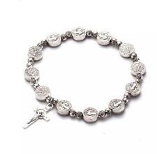 Cross pendant beaded bracelet