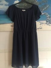 Rogers And Rogers Skater Dress Size 22 Long Top Floaty Navy Blue Knee length