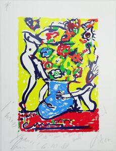 Luciano Castelli - Siebdruck mit Beistift-Ergänzungen - handsigniert - PA IV/VII