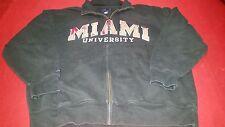 Miami University Black Sweatshirt with Pockets size Adult XL