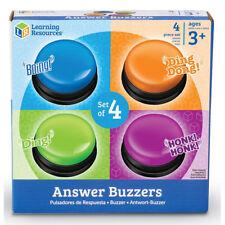 RESSOURCES D'APPRENTISSAGE Answer Buzzers-Lot de 4
