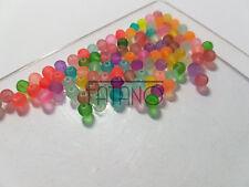 Glasperlen gefrostet 4 mm MIX 100 Stück Kugel Schmuck Basteln Perlen G40
