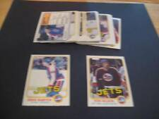 1981/82 O-Pee-Chee OPC Winnipeg Jets Team Set 23 Cards