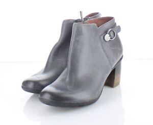 58-74 NEW $180 Women Sz 37 Dansko Perry Leather Low Waterproof Bootie - Gray