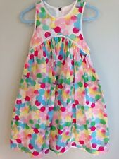 Egg by Susan Lazar cotton dress colorful dot  SleeveLess summer  8 EUC Gorgeous